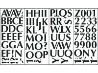 The Snap Black Alphabet Wall Applique is self-adhesive