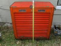 VINTAGE HEAVY DUTY SNAP ON TOOL BOX,ALL MEASUREMENTS