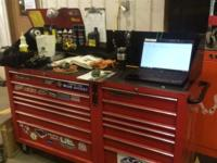 Two snap on tool boxes fabbed together to make one