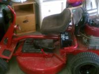 In excellent condition Snapper 12.5HP riding lawn