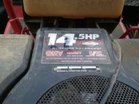 snapper mower 38 in deck no front wheels are tires no