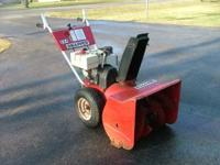 For sale is a 8hp Snapper snowblower in good running