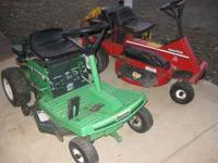 "For Sale Snapper 8HP 28"" Hi-Vac rear engine rider $350."