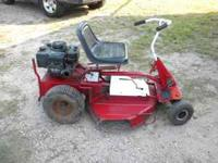 "1977 Snapper ""Comet"" Riding Mower. Mower has 10 hp"
