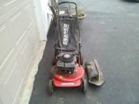 Snapper 6hp self propelled push mower with mulch cover