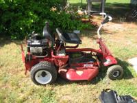 USED SNAPPER RIDING LAWN MOWER. RUNS GOOD $450.00 OBO