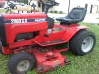 Snapper Lawn Tractor 50 cat 20hp onley 180 hours new