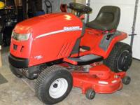 Here is a real nice, well kept Snapper Tractor. One