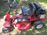 the mower runs. it belonger to my 83 yr old grandma.