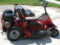 "Snapper 33"" riding mower with attachments. Please call"