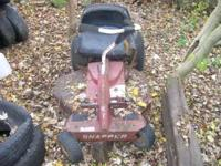 i have a snapper riding mower for sale it runs and has