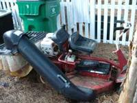 snapper lawn riding mower with grass catcher - used not