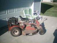 Older Snapper riding lawn mower, 30 inch, single blade,