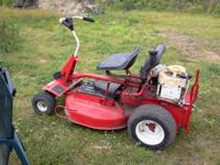 "Snapper riding mower. good condition. 8hp. 32""cut. Only"