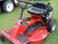 Snapper riding mower. Has a 14 horsepower kohler motor.