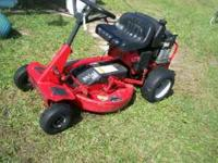 Snapper riding mower, 10 hp. briggs engine, pull start
