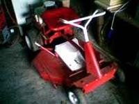 Older model snapper riding lawn mower 8hp. runs and