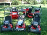 We have several snapper self propelled and hi-vac