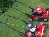 Two Snapper walk behind mowers 1st is a 75414416