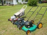"1 SNAPPER 3HP 21"" CUT PUSHMOWER SLIDE ADJ. WHEELS RARE"