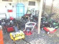 9 Push mowers for sale. all parts units and mostly