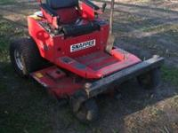 This is a Snapper zero turn lawn mower. It is from the