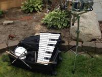 Snare Drum and keyboard set for sale.  Barely used,