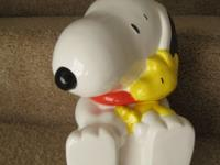 Peanuts Snoopy Cookie Jar. Handwash only, not microwave