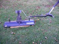 "Craftsman 42"" snowdozer blade with lift handle for"