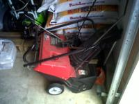 One used snow blower for sale. I believe that it is a
