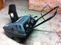 "Craftman 21"" wide,5 hp,electric start,runs very"