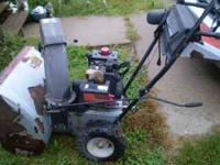 Two stage snowblower, was just serviced, has new carb