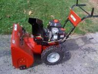 SEARS CRAFTSMAN snow blower .Like NEW. Used twice. Sold