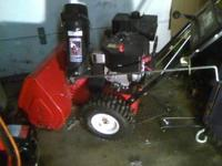 Toro 32 in.snow thrower mod.622 self propelled,used