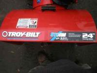 troy-bilt snow blower 5.5 HP. 195cc. Electric start, 6