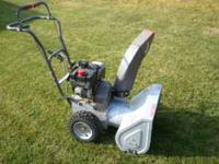 Very good snow blower for sale. In excellent condition