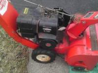 Old snow blower but works great. 4 stroke.  Location: