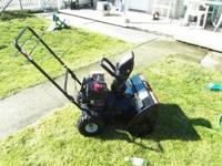 Yard Machines 5.5 HP Snow Blower, 22 inch clearing