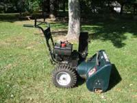Snow Blower/Thrower, 9 HP, cuts 29 inch path, 6 forward