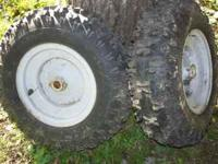 Snow blower tires in great shape used one season. wont