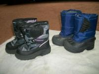 Snow Boots Camoflodge Size 7 Kids Blue & Black Size 5