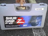 Shur Grip by SCC snow cable chains in mint condition