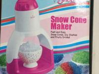 Snow Cone Maker by Rival for $5. Great Condition!