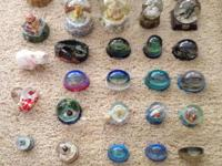 The collection includes 30 snow globe pieces and 4