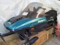 Hard to find 2-seater 500 cc 1994 Skido snow mobile.