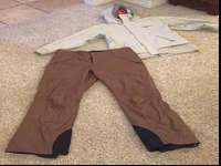 Women's Oakley jacket size XL AND brown snow trousers