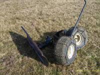 42inch snow plow for small iawn tractor, comes with