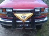Fischer snow plow off of 1 ton ford pickup. Hyd angle