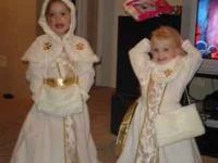 Super Cute Snow Princess Costume - Ivory fleece gown
