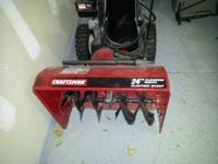 Craftsman 24 inch gas snow thrower with electric start.
